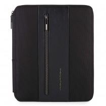 Portablocco c/scomparto porta iPadAir/Pro9,7 BRIEF NERO