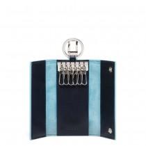 Portachiavi porta blindata + moschettone BLUE SQUARE BLU2