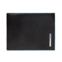 Portafoglio uomo con dodici porta cc RFID BLUE SQUARE NERO