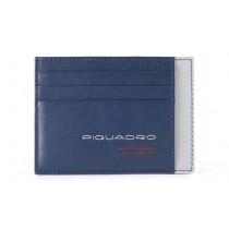 Bustina porta 6 carte di credito tascabile RFID Urban Blu/Grigio