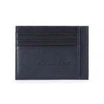 Bustina porta 6 carte di credito tascabile RFID Urban Blu
