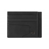 Bustina porta 6 carte di credito tascabile RFID Akron Nero