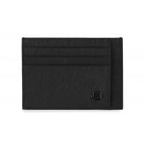 Bustina porta 6 carte di credito tascabile RFID Black Square Nero