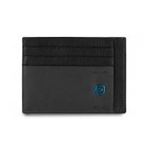 Bustina porta 6 carte di credito tascabile Pulse Nero