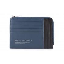 Bustina portamonete documenti 8 card RFID Downtown Blu