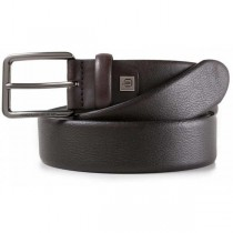 Cintura 35mm pelle fibbia ardiglione BLACK SQUARE TESTAMORO