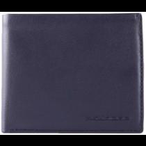 Portafoglio uomo con portamonete e porta 7 carte di credito Rfid Tag Blu
