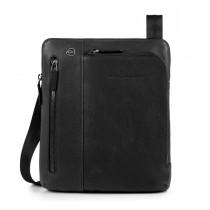 """Borsello porta iPad®Air/Pro 9,7""""/11"""" con doppia tasca frontale Black Square Nero"""