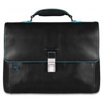 """Cartella porta PC 15"""" e porta iPad®Air/Pro 9.7""""/iPad 11"""" Blue Square Nero"""