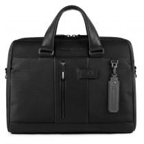 """Cartella porta PC 14"""" a due manici con scomparto porta iPad®Air/Pro 9,7 Brief Nero"""