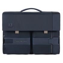 """Cartella porta pc 15,6"""" e porta iPad con patta 2 chiusure TOKYO BLU"""