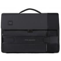 """Cartella porta pc 15,6"""" e porta iPad con patta TOKYO NERO"""