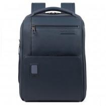 """Zaino grande porta PC 15.6"""" e porta iPad®Air/Pro 9.7""""/iPad 11"""" RFID Akron Blu Oltremare"""