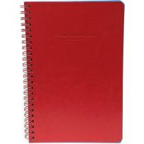 SPIRAL BOUND NOTES A5 CHERRY RED