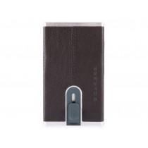 Porta carte di credito con sliding system e porta banconote RFID Black Square Testa Moro