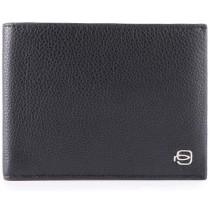 Portafoglio uomo con 12 porta carte di credito RFID linea SPLASH nero/rosso