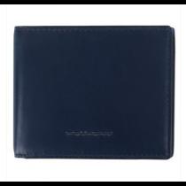 Portafoglio uomo con porta monete e porta card Rfid Bold Blu