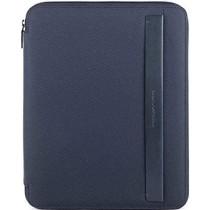 Portablocco sottile formato A4 con chiusura zip Klout Blu