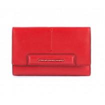 Portafoglio donna con porta carte di credito linea SPLASH rosso/sabbia