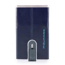 Porta carte di credito con sliding system BLUESQUARE BLU