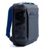 ZAINO CROSS BACKPACK SMALL BLACK/BLUE COBALTO